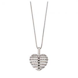 Split Diamond Heart Pendant Chain